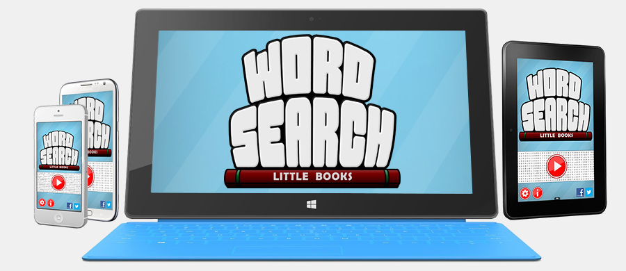 Word Search Little Books on iPad, iPhone, Android, Windows 8, Windows Phone, and Kindle Fire devices